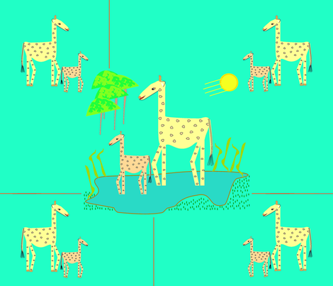 sweet Giraffes fabric by designs_by_phyllis_lepore on Spoonflower - custom fabric