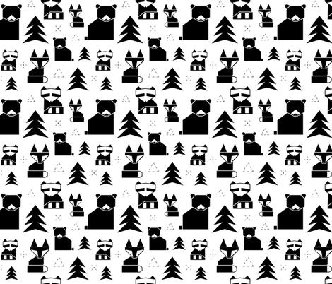 geometric woodland animals fabric by denisecolgan on Spoonflower - custom fabric