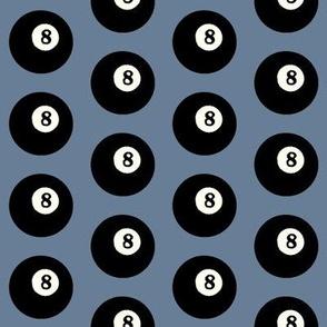 8 Balls on Horizon Blue // Medium
