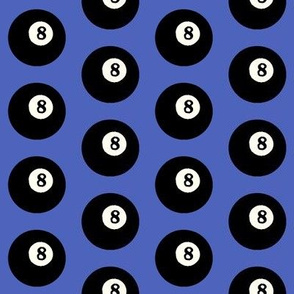 8 Balls on Blue // Medium