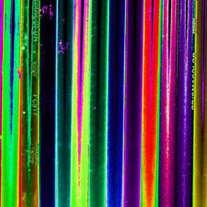 colored pencil stripes