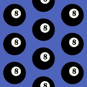 8 Balls on Blue // Large