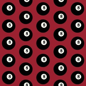 8 Balls on Red // Small