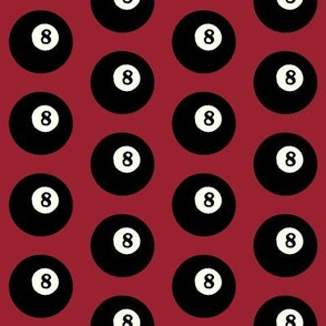 8 Balls on Red // Medium