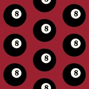 8 Balls on Red // Large