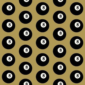 8 Balls on Gold // Small