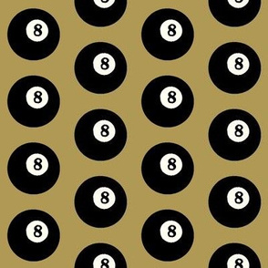 8 Balls on Gold // Medium