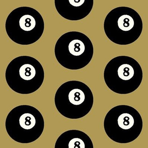 8 Balls on Gold // Large