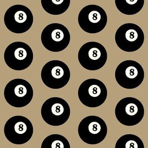8 Balls on Khaki // Medium
