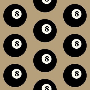 8 Balls on Khaki // Large