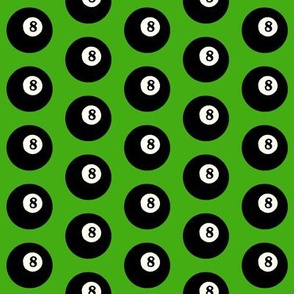 8 Balls on Light Green // Small