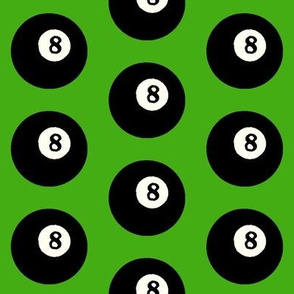 8 Balls on Light Green // Large