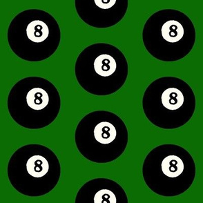 8 Balls on Green // Large