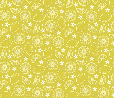 Lemonade fabric by lellobird on Spoonflower - custom fabric