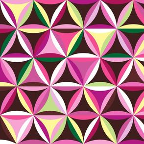 Beach glass hexagons ~ pinks