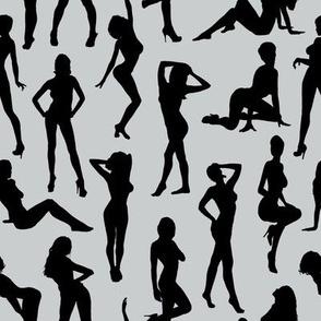 Femmes - Noir et Gris // Large