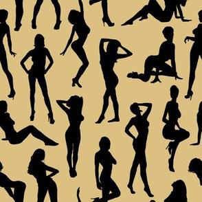 Femmes - Noir et Beige // Large