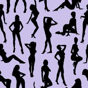 Femmes - Noir et Lavande // Large
