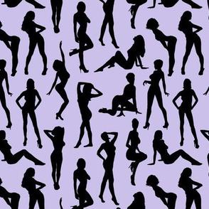 Femmes - Noir et Lavande // Small