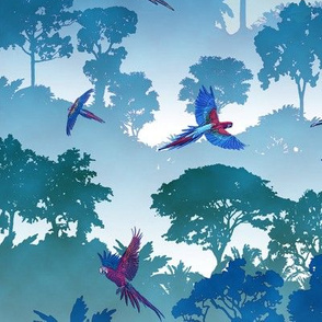 Macaw Canopy - Blue // Large
