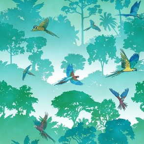 Macaw Canopy - Cyan // Small