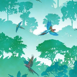 Macaw Canopy - Cyan // Large