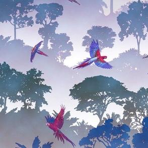 Macaw Canopy - Purple // Large