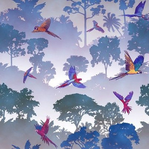 Macaw Canopy - Purple // Small