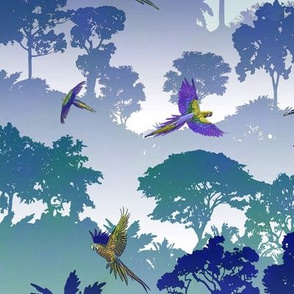 Macaw Canopy - Blue-Violet // Large