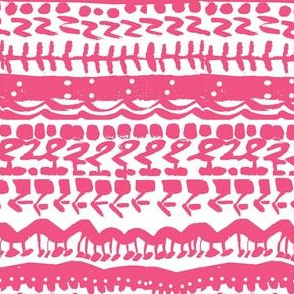Tribal abstract  pink white