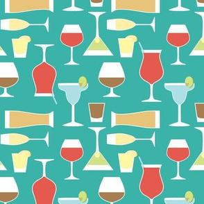 retro drinks pattern