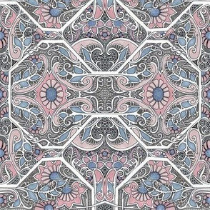 Paisley Garden Pink and Blues