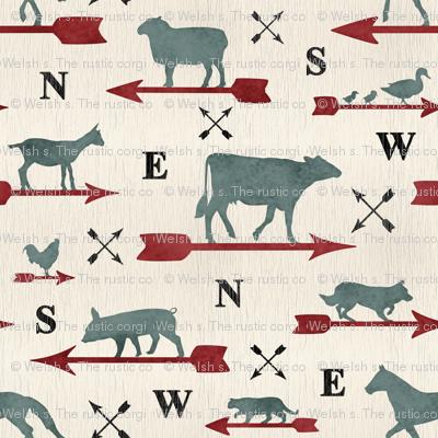 Weathered farmhouse Animal weathervanes - medium