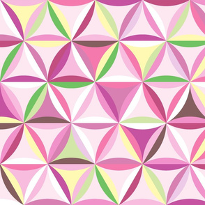 Beach glass hexagons ~ pinks (pale)