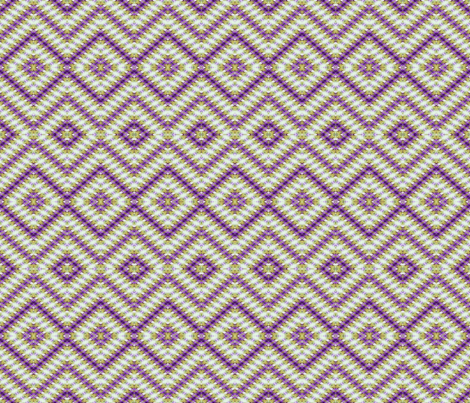 Fluttery Diamonds in Purple & Yellow fabric by just_meewowy_design on Spoonflower - custom fabric