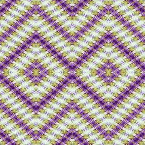 Fluttery Diamonds in Purple & Yellow