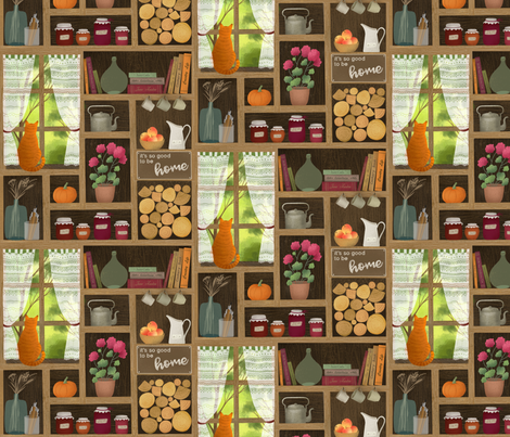 It's so good to be home fabric by julia_gosteva on Spoonflower - custom fabric