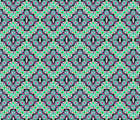 Green Checkered Diamond Buds fabric by just_meewowy_design on Spoonflower - custom fabric