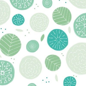 Green Patterned Circles