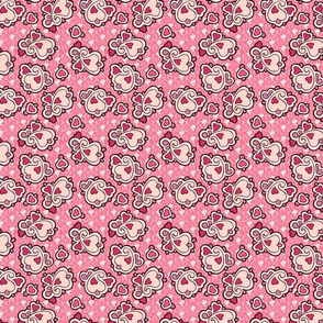heart ditsy paisley pink