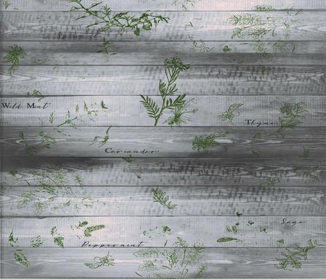 farmhouse herbs  fabric by lindsayj on Spoonflower - custom fabric