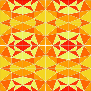 Mosaic - orange & yellow