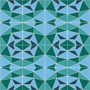 Mosaic - teal & petrol