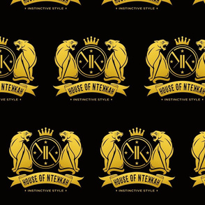 House of NteKKah Black/Gold Official Panther Logo II