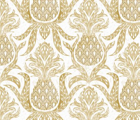 Welcome Pineapple: Farmhouse  Decor fabric by vo_aka_virginiao on Spoonflower - custom fabric