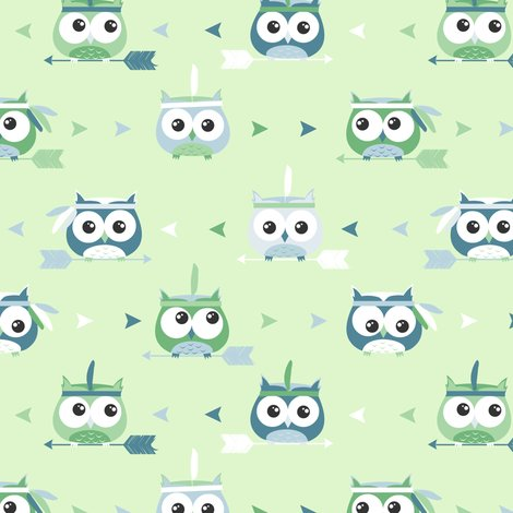 New_owl_pattern_green_tribal_shop_preview