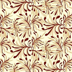 Wild Grassland Tipped with Russet on Magnolia Cream - Large Scale