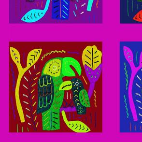 Tropical Parrots Quilt
