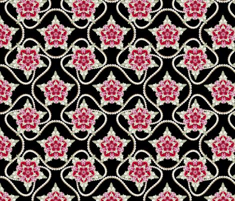 Sweet William Star pearl black fabric by karwilbedesigns on Spoonflower - custom fabric
