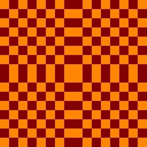 LS Checkerboard Liquid Sun with Border - Medium